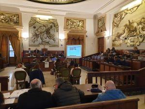 La sala consiliare del Comune di Catania dove si è svolto il Convegno