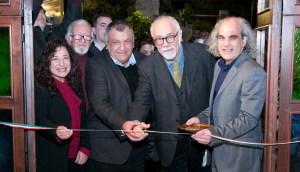 Inaugurazione Mostra: in primo piano Nello Lo Turco Sindaco di Giardini Naxos, Mario Bolograri Sindaco di Taormina e l'arch. Sergio Pelligra