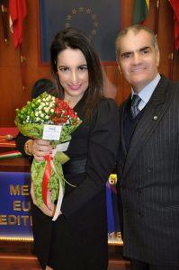 Il Viceprefetto dott.ssa L'avv. Silvana Paratore e il Presidente ANIOMRID Cav. Uff. Francesco Frazzetta
