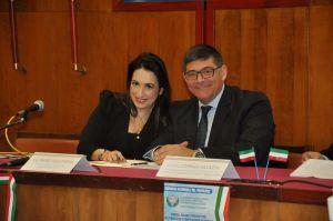 l'avv. Silvana Paratore e l'Ing. Mario Paolo Mega Presidente Autorità di Sistema Portuale dello Stretto