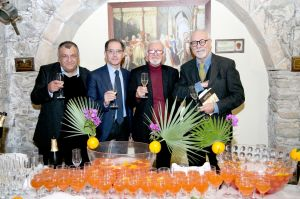 Da sin. Lo Turco, Visconti, Buda e Bolognari