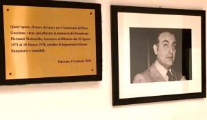 Targa Commemorativa a Mattarella