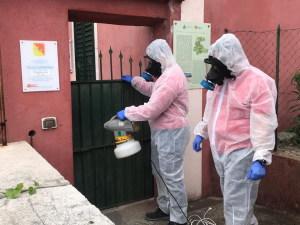 Sanificazione a Villa Caronia (Taormina), sede direzionale del Parco
