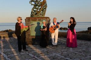 Angela Lombardo, Maria Russell, Rosario Todaro ed il soprano Elisa Moschella