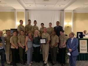 La foto di gruppo con la rappresentanza dei militari della U.S. Navy - Usa