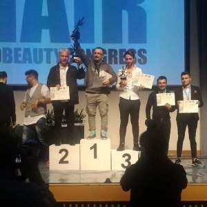 Il podio di Carmelo Giuffrè campione del mondo della sua categoria in una recente manifestazione internazionale