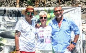 Con Maria Russell e Rosario Todaro nel 2019