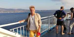 Luigi Centra attraversa lo Stretto di Messina