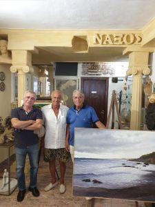Da sin. il maestro Turi Azzolina, il dr. Sorge e il pittore Pippo Foti