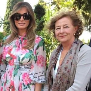 Martine Fender al G7 di Taormina nel 2017 con Ivana Trump