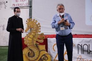 Padre Gianluca Monte ed il Sindaco di Giardini Naxos  Giorgio Stracuzzi