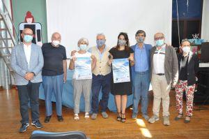 Nella foto di gruppo  i relatori intervenuti nella presentazione del programma assieme all'avvocato Silvana Paratore e al dott. Pino Mento