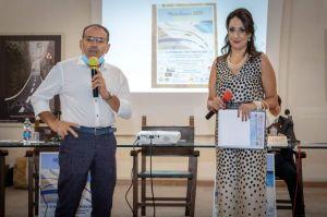 Il sindaco di Mandanici dott. Briguglio e il presentatore cerimonia avv. Paratore