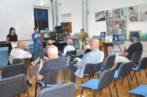 Il pubblico presente alla presentazione dell'evento