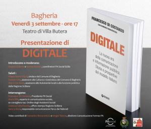 La locandina dell'evento con la copertina del libro